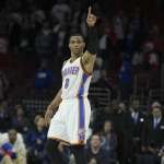 [NBA] OKC 웨스트브룩 연속G 트리플더블 끝…팀은 역전승