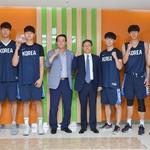 KBL 이정대 총재, 아시안게임 3X3 남자농구 대표 팀 격려