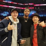 [SNS컷]상추X이기우, NBA 올스타 폴 조지와 만났다…팬심 가득 인증샷