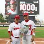 KIA 김주찬 1000득점 기념상…차명진-한승택은 6월 감독상