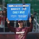 "[PO2 포스트게임] 'MVP' 김규민 ""마지막 주루 큰 실수…100% 좋지 않다"""