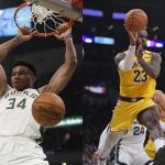 [NBA 프리뷰] '동·서부 1위가 만났다' 밀워키-LA 레이커스, 미리 보는 파이널될까?