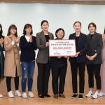 WKBL 선수단, 코로나19 극복을 위한 기부금 전달