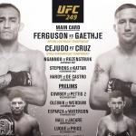 UFC, 8일 동안(5월 10일~17일) 3개 대회 개최