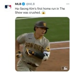 "MLB.com, ""김하성이 쏘아올린 ML 데뷔 첫 홈런, SD 역전 견인"""